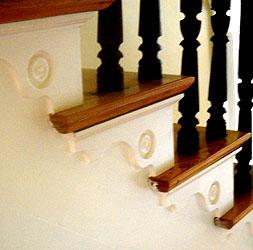 Interior Stairset W/ Decorative Brackets